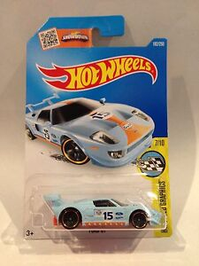 Image Is Loading Hot Wheels Ford Gt Gulf Racing