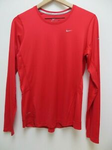 Red Long-Sleeve Activewear T-shirt Sz M