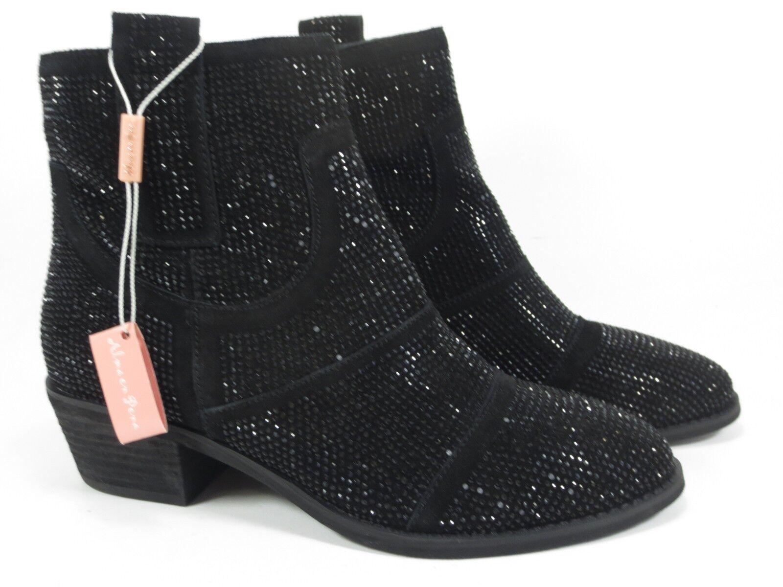 ALMA EN Stiefel PENA Leder Schuhe Glitzer Stiefel EN schwarz Gr. 42 NEU Stiefeletten eedf85