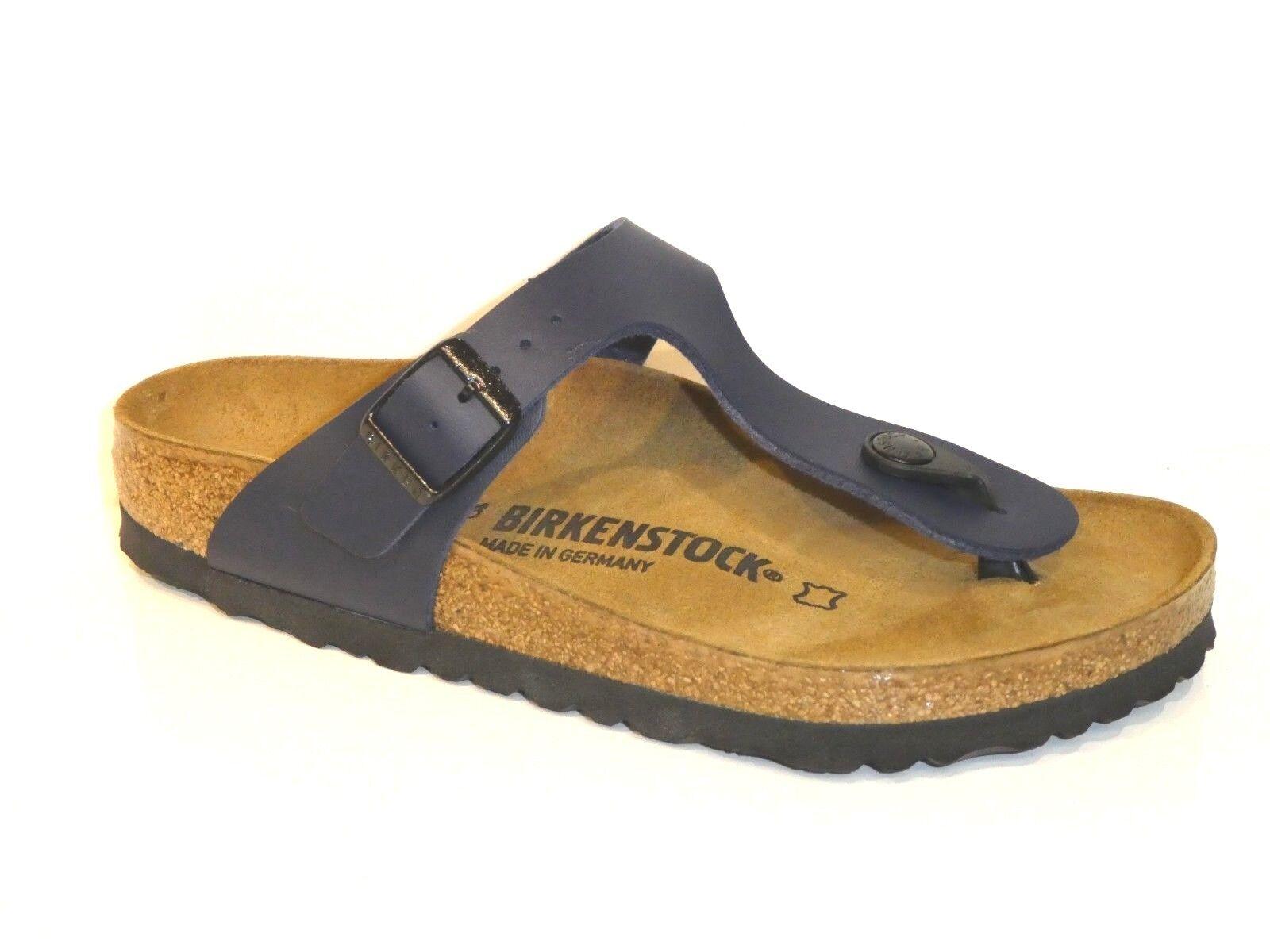 Birkenstock Schuhe Gizeh BF Pantoletten Sandale Blau blau Weite Normal 0143621