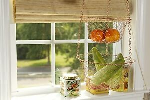Details about Hanging Kitchen Basket 3 Tier Storage Rack Fruit Vegetable  Organizer Wire Copper