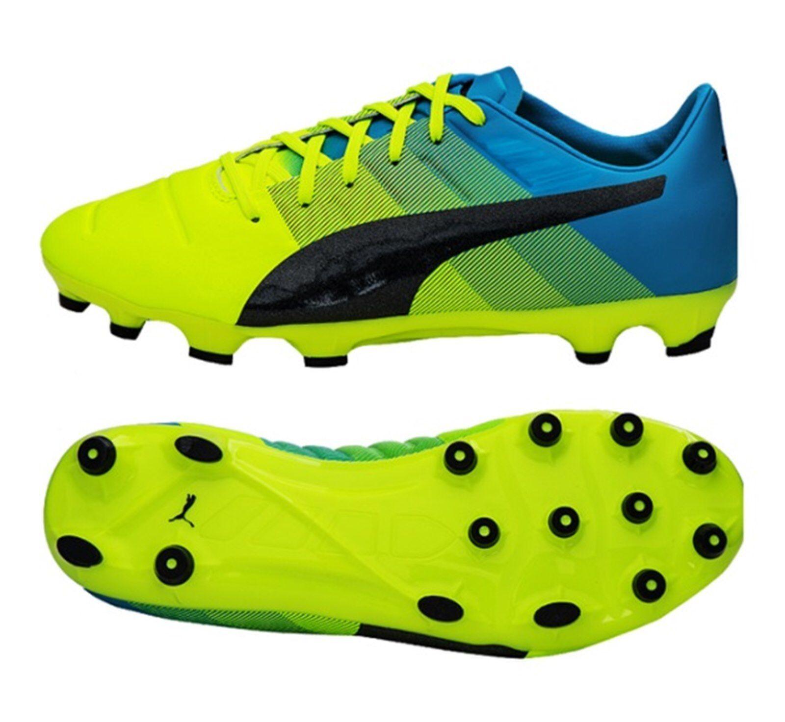 Puma Para Hombre Evo-Potencia 1.3 AG Botines Zapatos De Fútbol De Cal Bota Spike 103526-01