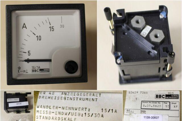 BBC GOERZ METRAWATT Strommesser EQ 48, Wandler-Nennwert 15/1A