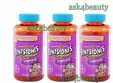 Lot Of 3 Flintstones 180 Gummies Complete Children Multivitamin