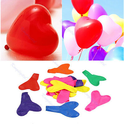 100pcs Mix Color Heart Shaped Latex Balloons Wedding Birthday Party Decoration