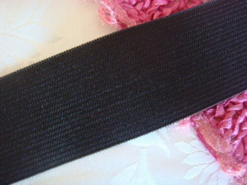 "5 yards black knitted knit waistband wide elastic trim 1 1//2/"" w USA Shipper"