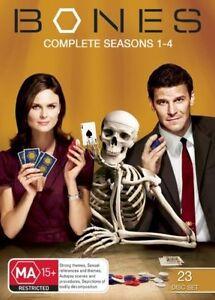 Bones-Season-1-4-DVD-2009-23-Disc-Set-David-Boreanaz-Emily-Deschanel
