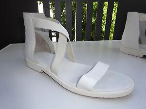 Leder Schuhe Gladiator Cos Sandalen Gummizug Portugal Gr 41 Damen Zu Top Details Weiß IfyY6bv7g