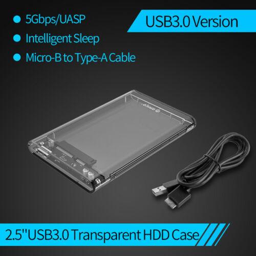 "ORICO USB C 3.1 Hard Drive Enclosure Type C to TypeC External 2.5/"" HDD Case UASP"