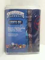 Skylanders Activision Lights Off Room Darkening Drapery Panel Kids Bedroom Nip
