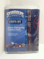 Skylanders Activision Lights Off Room Darkening Drapery Panel Kids Bedroom Nip