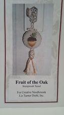 Stumpwork Needlework Chart Fruit of the Oak Tassel Ornament Pendant  Embroidery