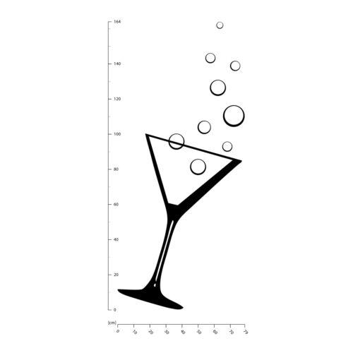 Cocktail Glass Martini Glass Wall Sticker WS-18503
