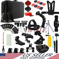 59in1 Accessories Floating Monopod Chest Head For GoPro HD Hero 4 3+ 3 2 Camera