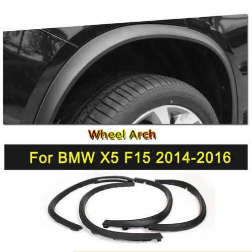 Black PP Wheel Well Arch Fender Flares Trim Cover Fit for BMW F15 X5 2014-2016