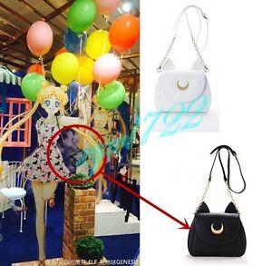 Sailor-Moon-Luna-Artemis-Black-White-Shoulder-PU-Leather-Bag-New-From-China