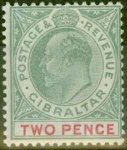Gibraltar-1903-2d-Grey-Green-amp-Carmine-SG48-Fine-Lightly-Mtd-Mint