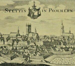 Szczecin in Pomerania (Stettino) - più giovani immagine dopo un vecchio (Merian -?) - chiave