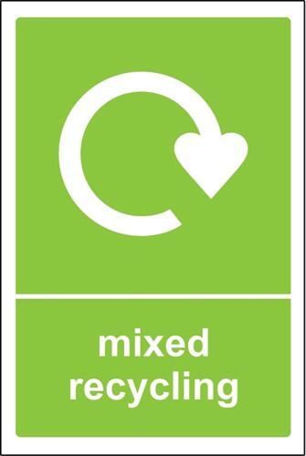 Bac de recyclage AUTOCOLLANT MIXTE recyclage-AUTOADHÉSIF VINYLE 200x300mm