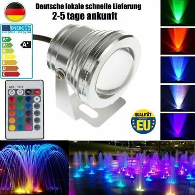 10W LED RGB Strahler Außen Flut Licht IP68 Unterwasserscheinwerfer DHL