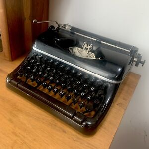 Vintage German Portable Typewriter estate item not restored maybe Olympia model?