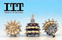 2P11T 2 POLE 11 POSITIONS ITT W. Germany 80s CERAMIC Rotary Switch NON SHORTING
