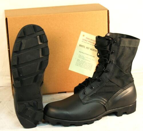 US Military JUNGLE COMBAT BOOTS Panama Sole Cordura Nylon Upper BLACK USGI NEW