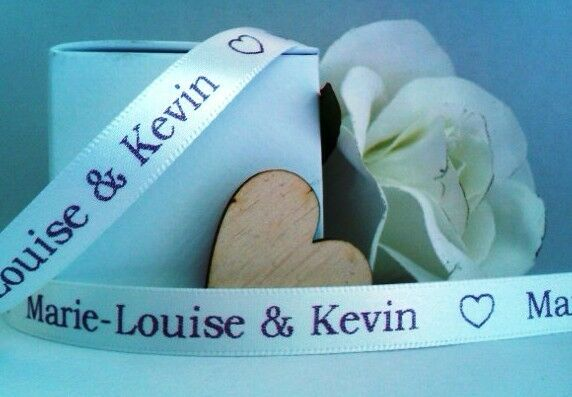 Personalised Printed Ribbon Wedding Favours 10mm