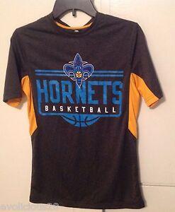 b23c68c56221 NEW NEW ORLEANS HORNETS GRAY T-SHIRT MEN S SZ Small NBA BASKETBALL ...