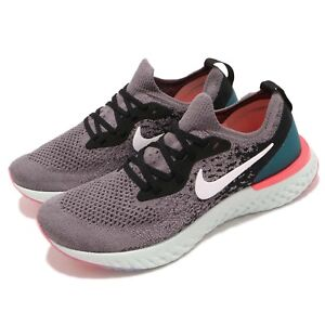 2040d2a3b646d Nike Wmns Epic React Flyknit Grey Black Green Pink Women Running ...