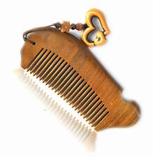 UK Seller! Handcraft Green Sandalwood Sandal Wood Fish Shape Comb Gift 12cm