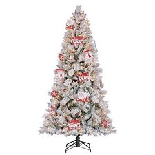 Hallmark 7 5' Artificial Northern Estate White Flocked Christmas  - Pictures Of Flocked Christmas Trees
