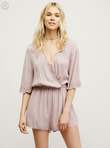 Free People Woherren Rosa Zelma Romper  XS MSRP   Sold out