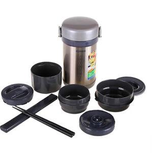 New-ZOJIRUSHI-SL-NC09-ST-Stainless-Steel-Japanese-Lunch-Jar-Box-Japan-Import