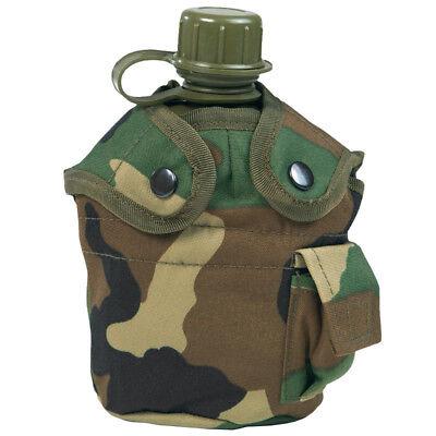 Estados Unidos Ejército Agua Cantina Viajes Camping Botella Con Tapa Woodland Ca