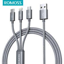 ROMOSS 3 в 1 универсальный нескольких Usb кабель для зарядки для iPhone iPad Samsung Kindle