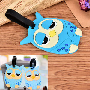 Owl-Suitcase-Luggage-Tags-Name-Address-ID-Address-Holder-Silicone-Bag-Label-H-amp-T