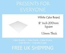 "10 x 8"" Square White Cake Board FREE SHIPPING"