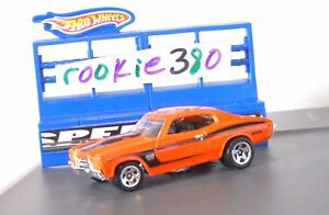LOOSE-2011-Hot-Wheels-MUSCLE-MANIA-102-1970-CHEVELLE-SS-ORANGE-039-70-454