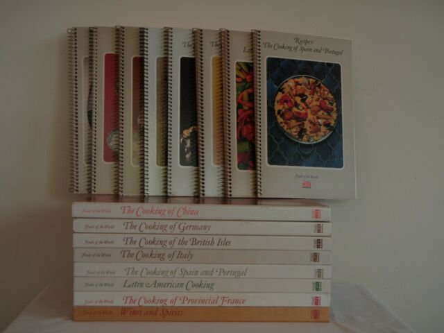 Foods of the World by Time Life Books 16pc Matching Spiral Bound and Hardcover