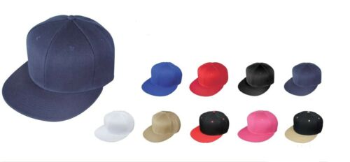 6 New Blank Retro Flat Bill Vintage Hip Hop Snapback Baseball Hat Caps Polyester