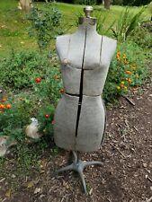 Vintage Early 20th C Adjustable Dress Form Mannequin Display Dressmakers Model