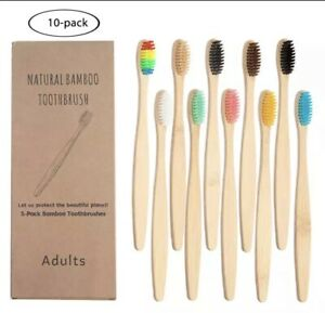 10-Pcs-Bamboo-Toothbrush-Eco-Friendly-Product-Vegan-Tooth-Brush-Multi-Colour