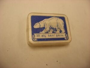 Phonograph Victrola Gramophone Needle Tin - Plastic - Ours Polaire Polar Bear