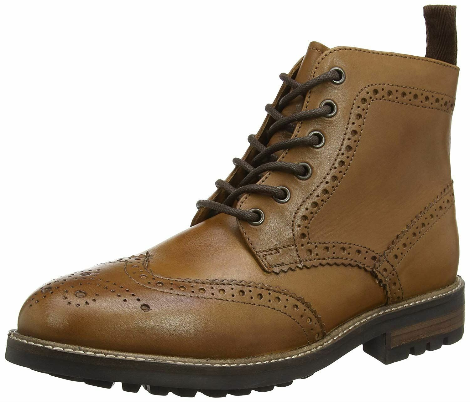 rot Tape Devlin Cleated Sole Leather Lace Up Brogue Mens Stiefel Tan 7 8 9 10 11