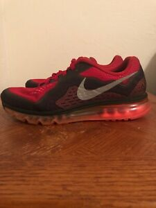 Details about Nike Air Max 2014 Size 10.5 Gym RedReflect Silver Hyper Punch 621077 601