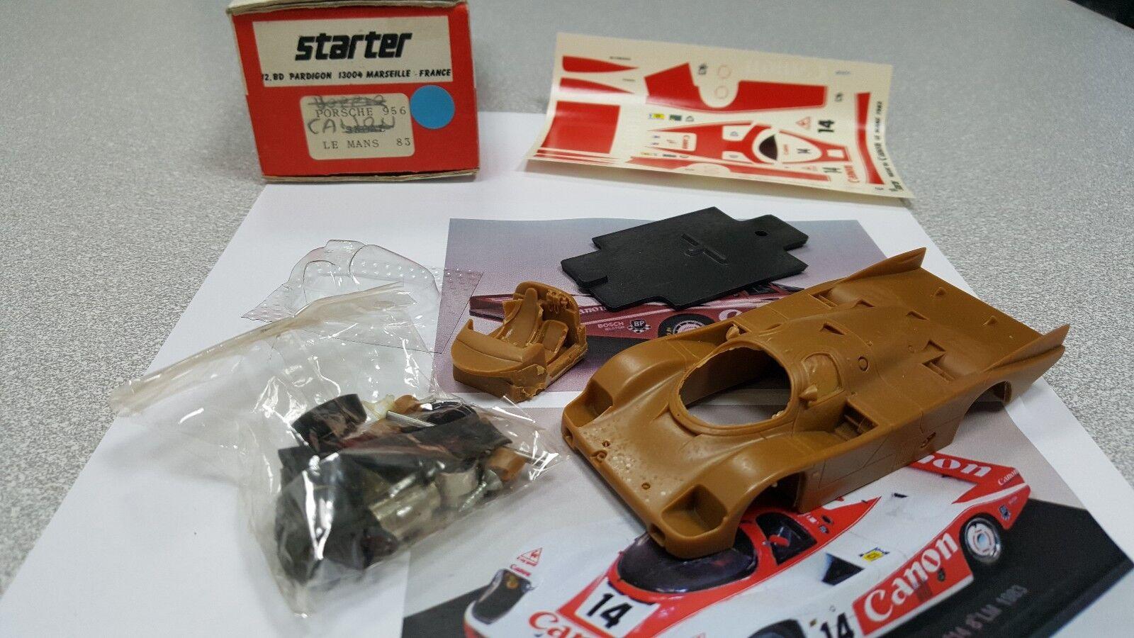 Kit Porsche 956 Canon  14 Le Mans 1983 - Starter Models kit 1 43