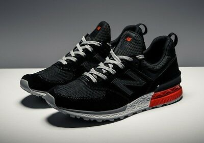 New Balance 574 Sport Black Red Sneakers Men's US Size 8 | eBay