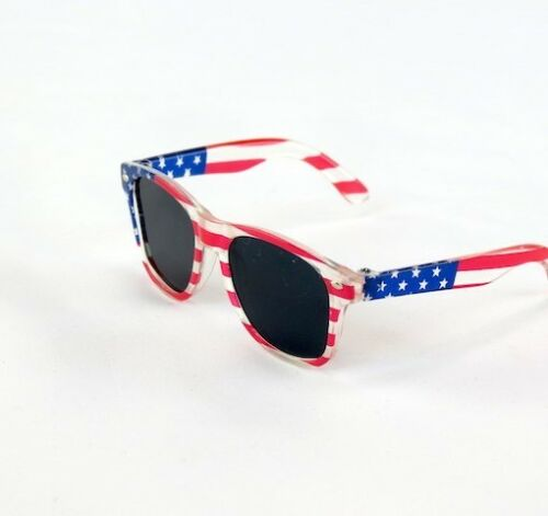 "18/"" Doll Patriotic Flag Sunglasses fits 18/"" Dolls Red White Blue Flag Sunglasses"