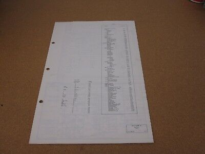 1972 Lincoln Mark Iv Wiring Diagram Sheet Schematics Service Manual Original Ebay